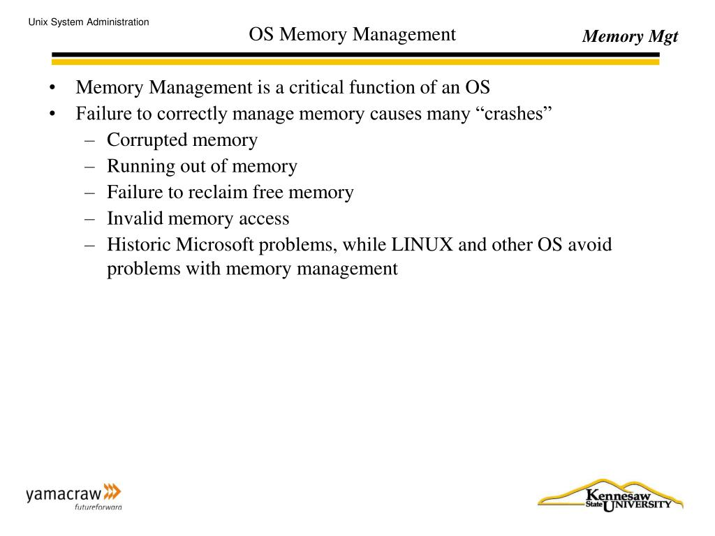 memory management in unix operating system ppt