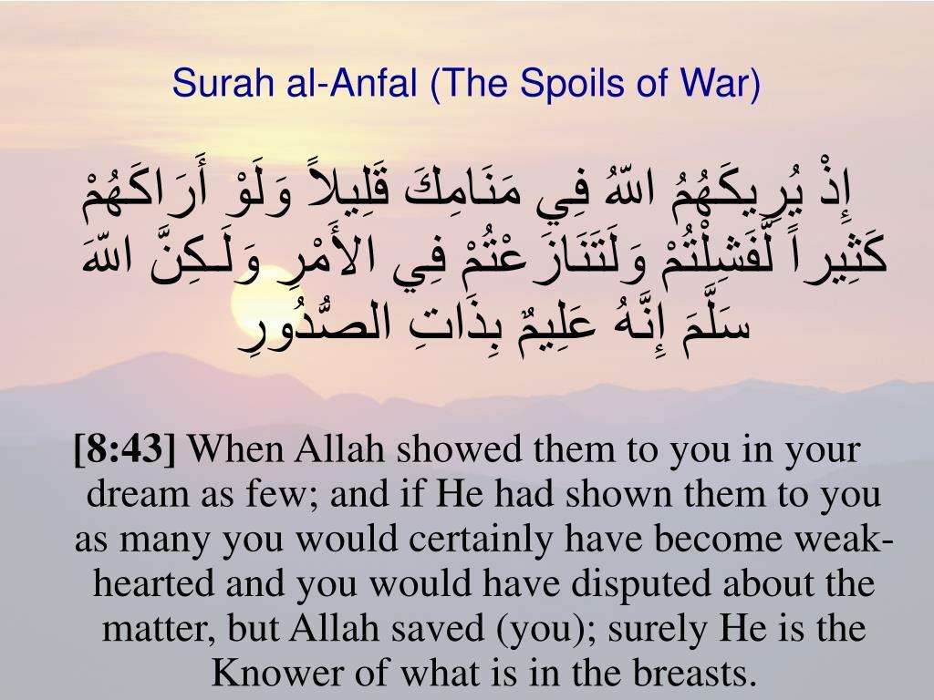 PPT - Surah al-Anfal (The Spoils of War) PowerPoint