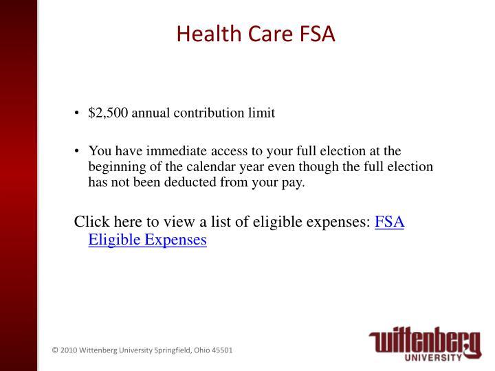 Health Care FSA