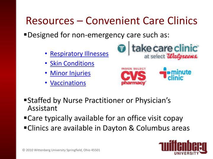 Resources – Convenient Care Clinics