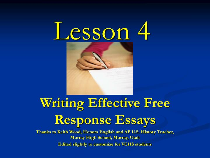 lesson writing an essay Find quality lessons, lessonplans, and other resources for middle school research writing and practices and much more.