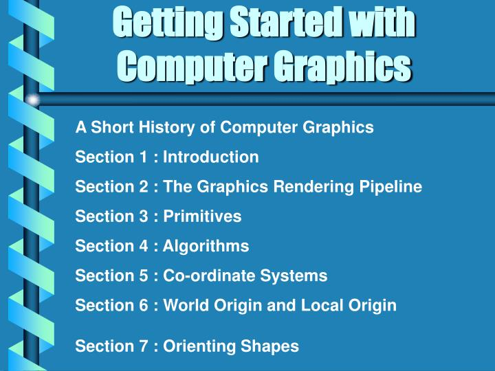 getting started with computer graphics n.