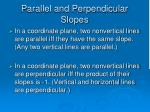 parallel and perpendicular slopes