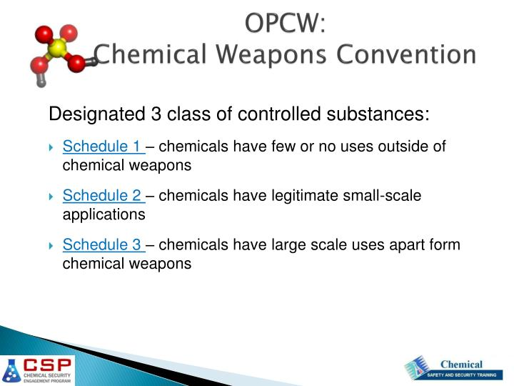 chemical weapons convention essay Chemical weapons convention chemcal weapons convention is a universal non-discriminatory, multilateral, disarmament treaty which bans the development, production, acquisition, transfer, use and stockpile of all chemical weapons.