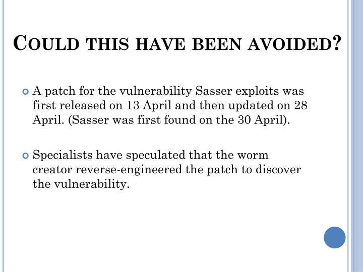 patch sasser