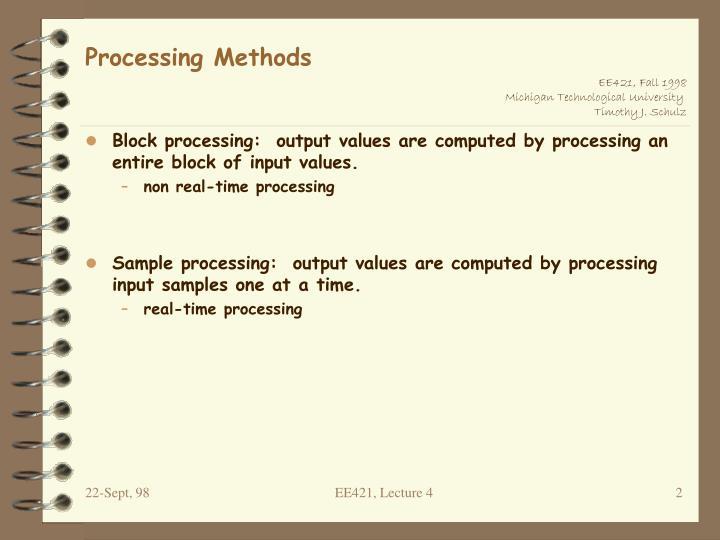 Processing methods