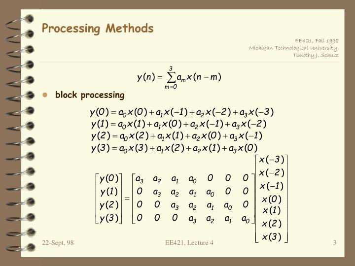 Processing methods1