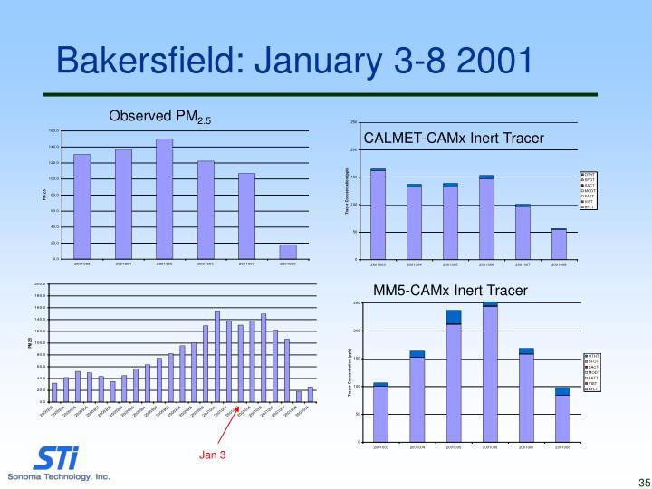 Bakersfield: January 3-8 2001