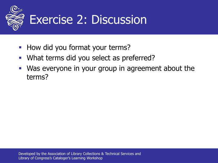 Exercise 2: Discussion
