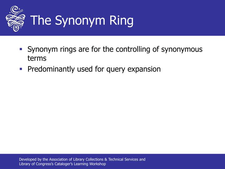The Synonym Ring