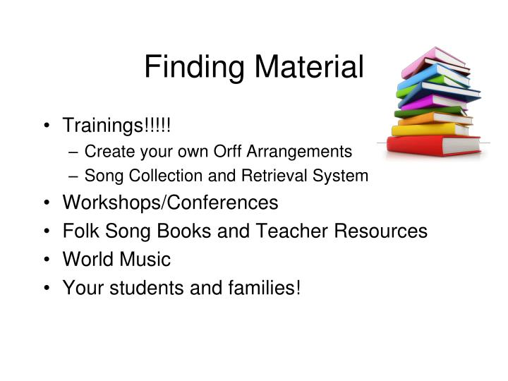 Finding Material