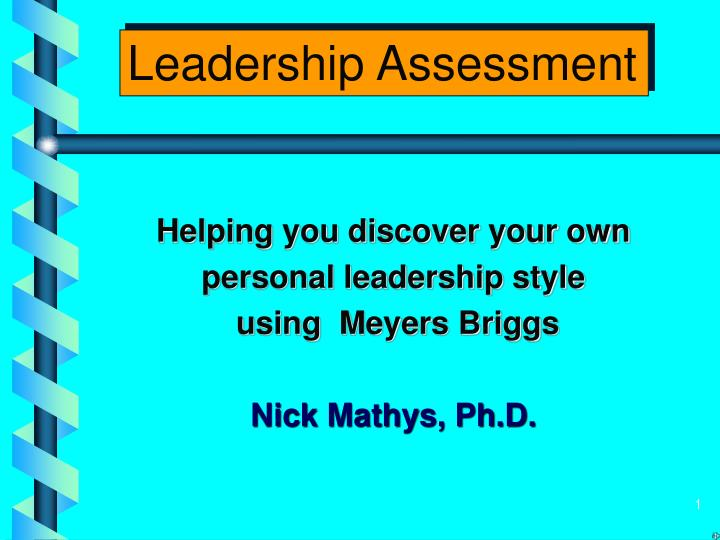 leadership styles assessment free