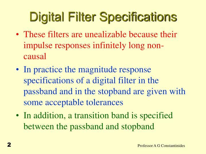 Digital filter specifications1