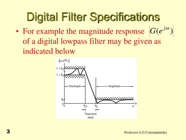 Digital filter specifications2