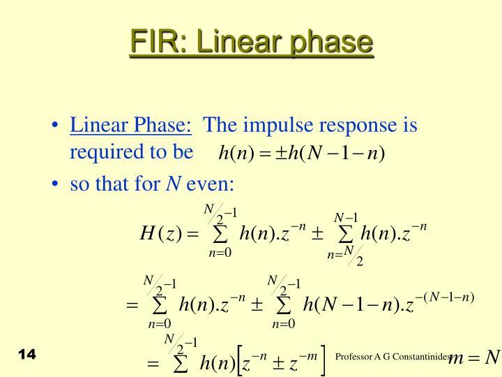 FIR: Linear phase