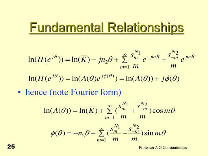 Fundamental Relationships