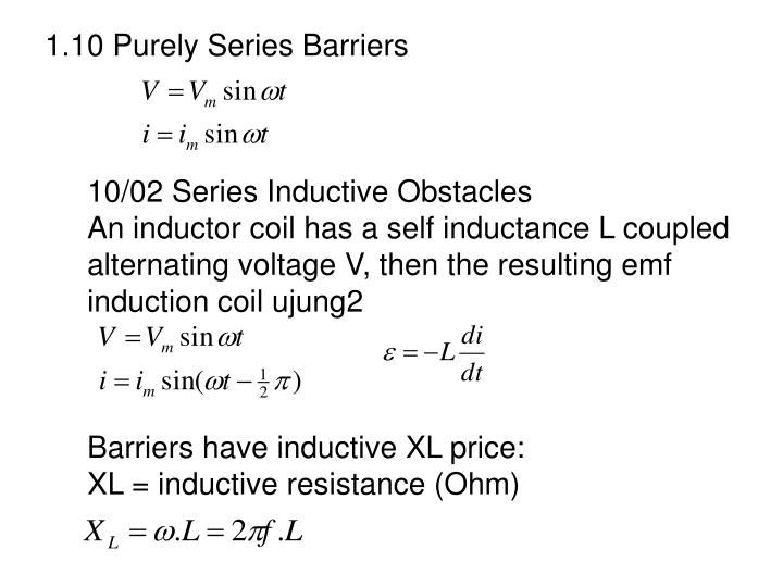 1.10 Purely Series Barriers
