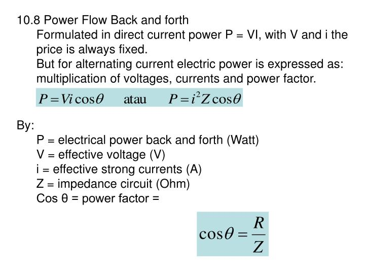10.8 Power Flow Back and forth