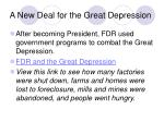 a new deal for the great depression