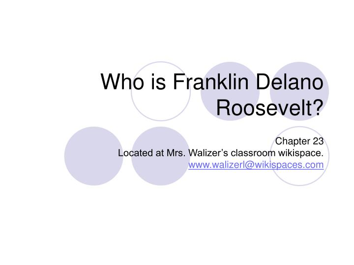 who is franklin delano roosevelt n.