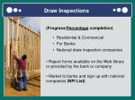 draw inspections