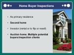 home buyer inspections
