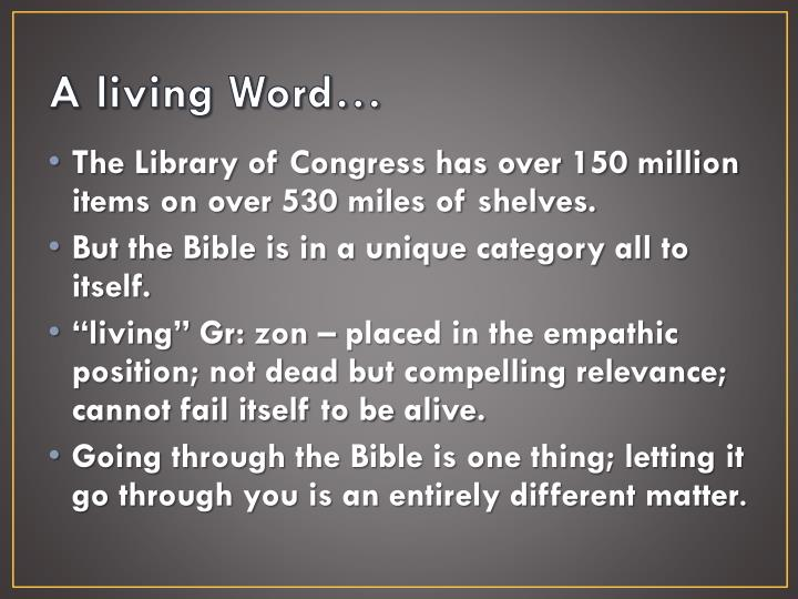 A living word