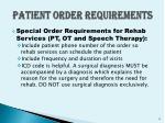 patient order requirements5
