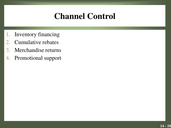 Channel Control