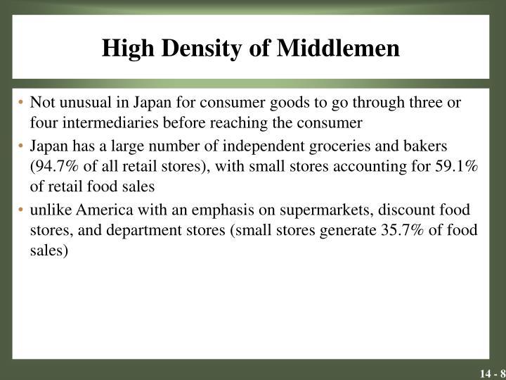 High Density of Middlemen