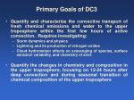 primary goals of dc3