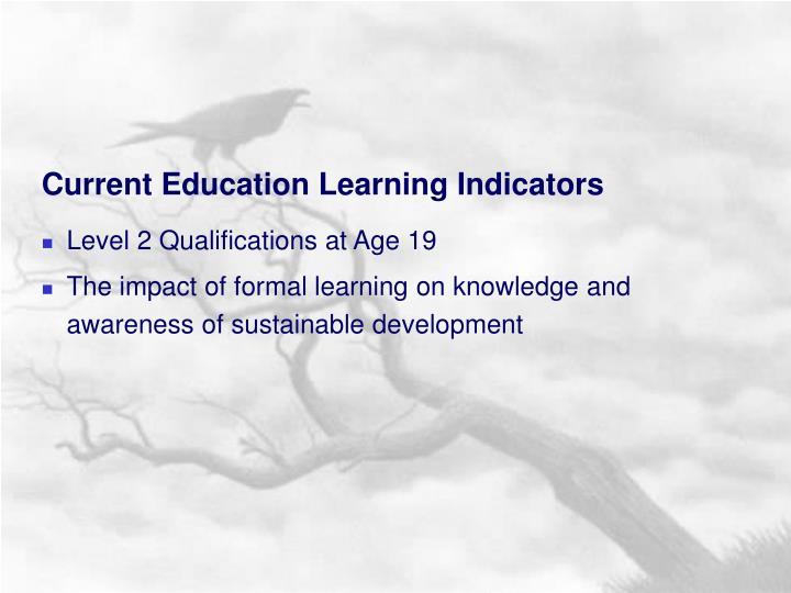 Current Education Learning Indicators