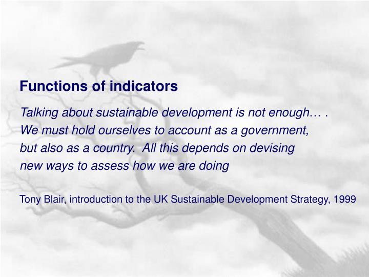 Functions of indicators
