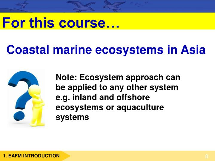 Coastal marine ecosystems in Asia