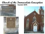 church of the immaculate conception founded 1675