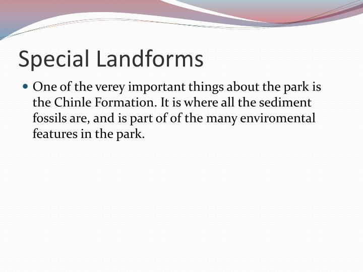 Special Landforms