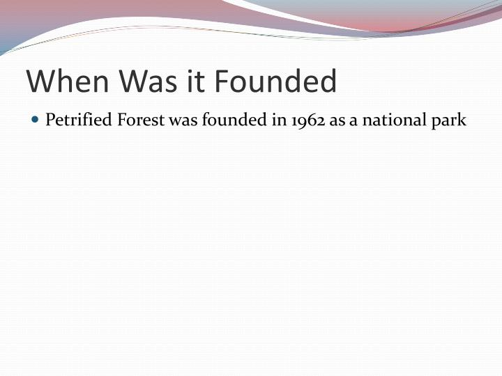 When was it founded