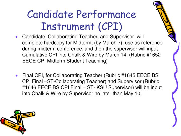 Candidate Performance Instrument (CPI)