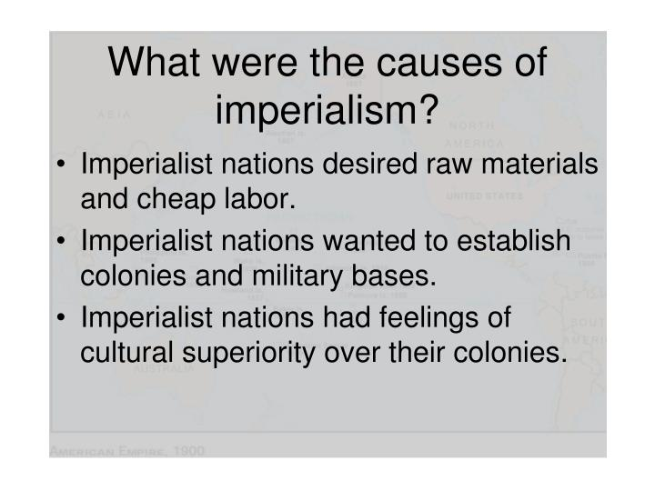 What were the causes of imperialism?