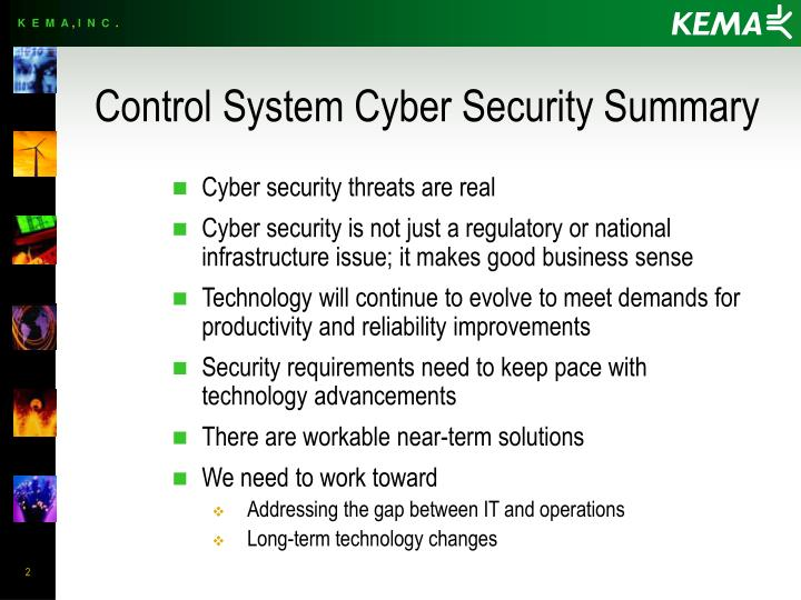 PPT - Control System Cyber Security Summary PowerPoint ...