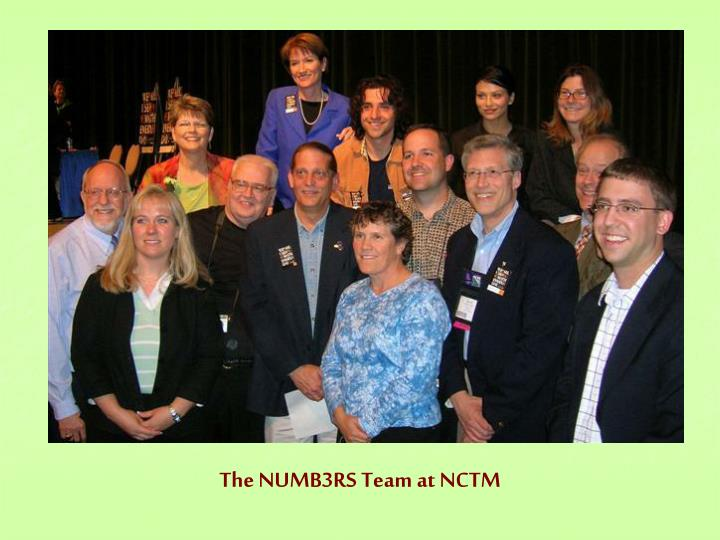 The NUMB3RS Team at NCTM