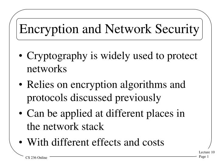 encryption and network security n.