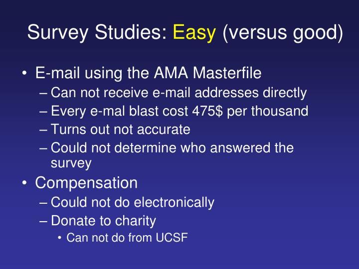 Survey Studies: