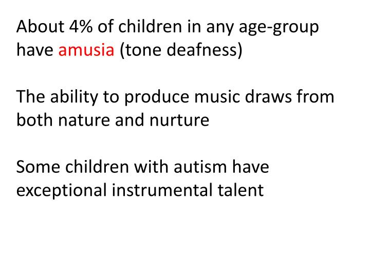 About 4% of children in any age-group have