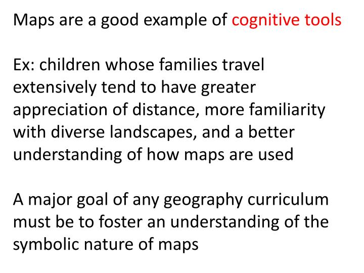 Maps are a good example of