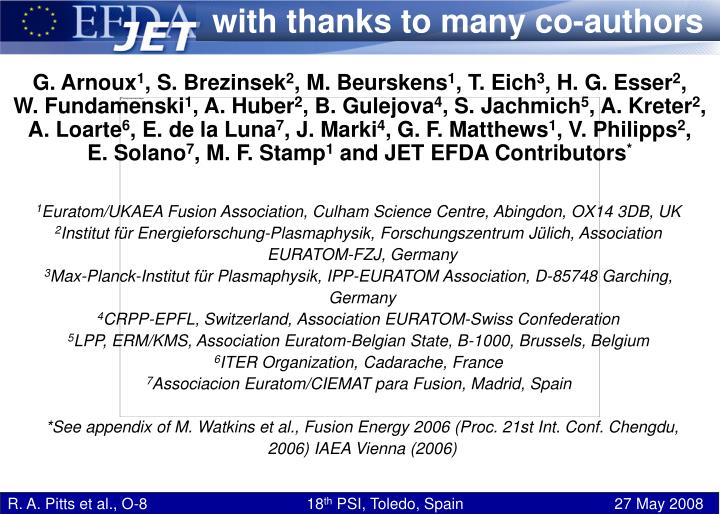 With thanks to many co-authors