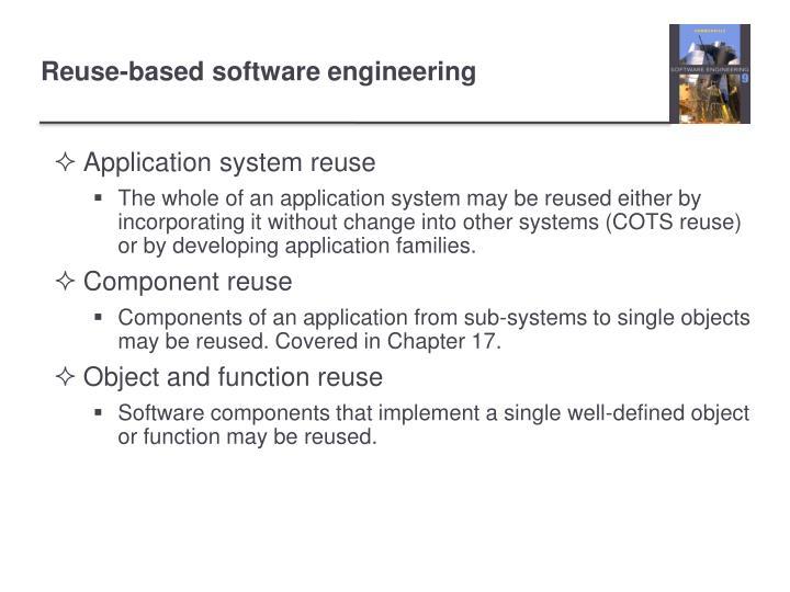 Application system reuse
