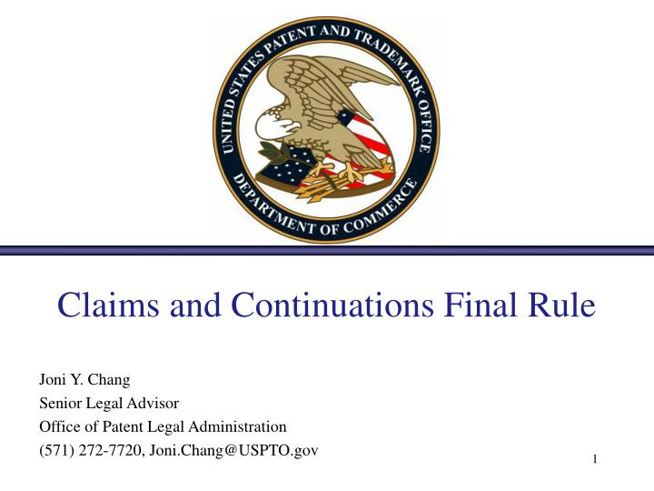 claims and continuations final rule n.