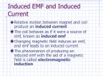 induced emf and induced current