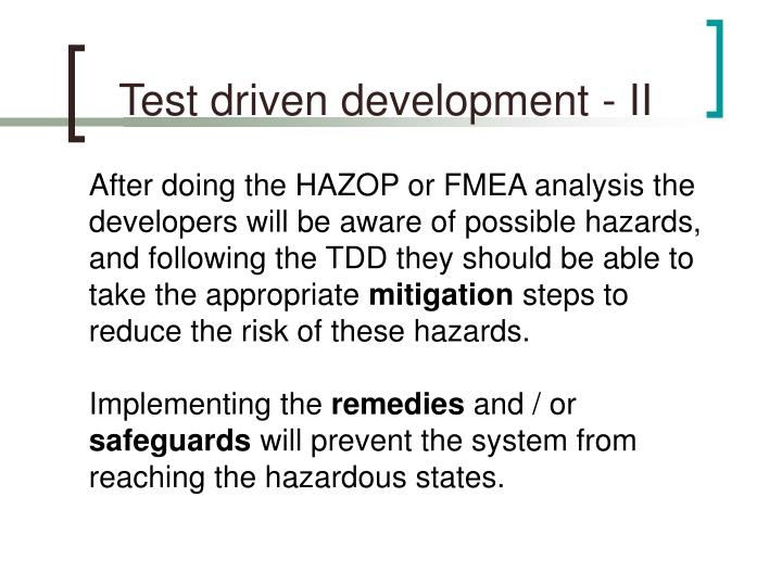 Test driven development - II